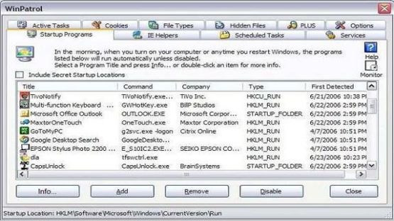 WinPatrol screenshot 3