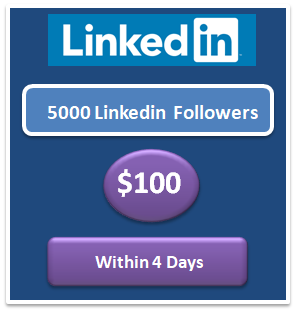 5000 buy real Linkedin Followers