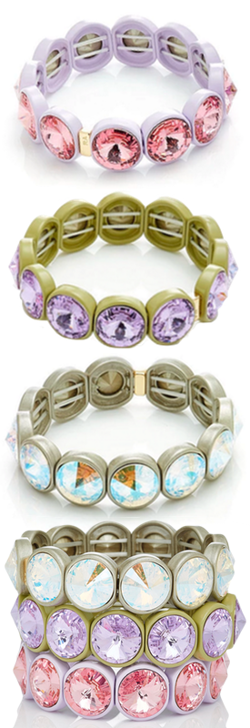 Roxanne Assoulin Set Of Three Enamel And Gold-Tone Bracelets