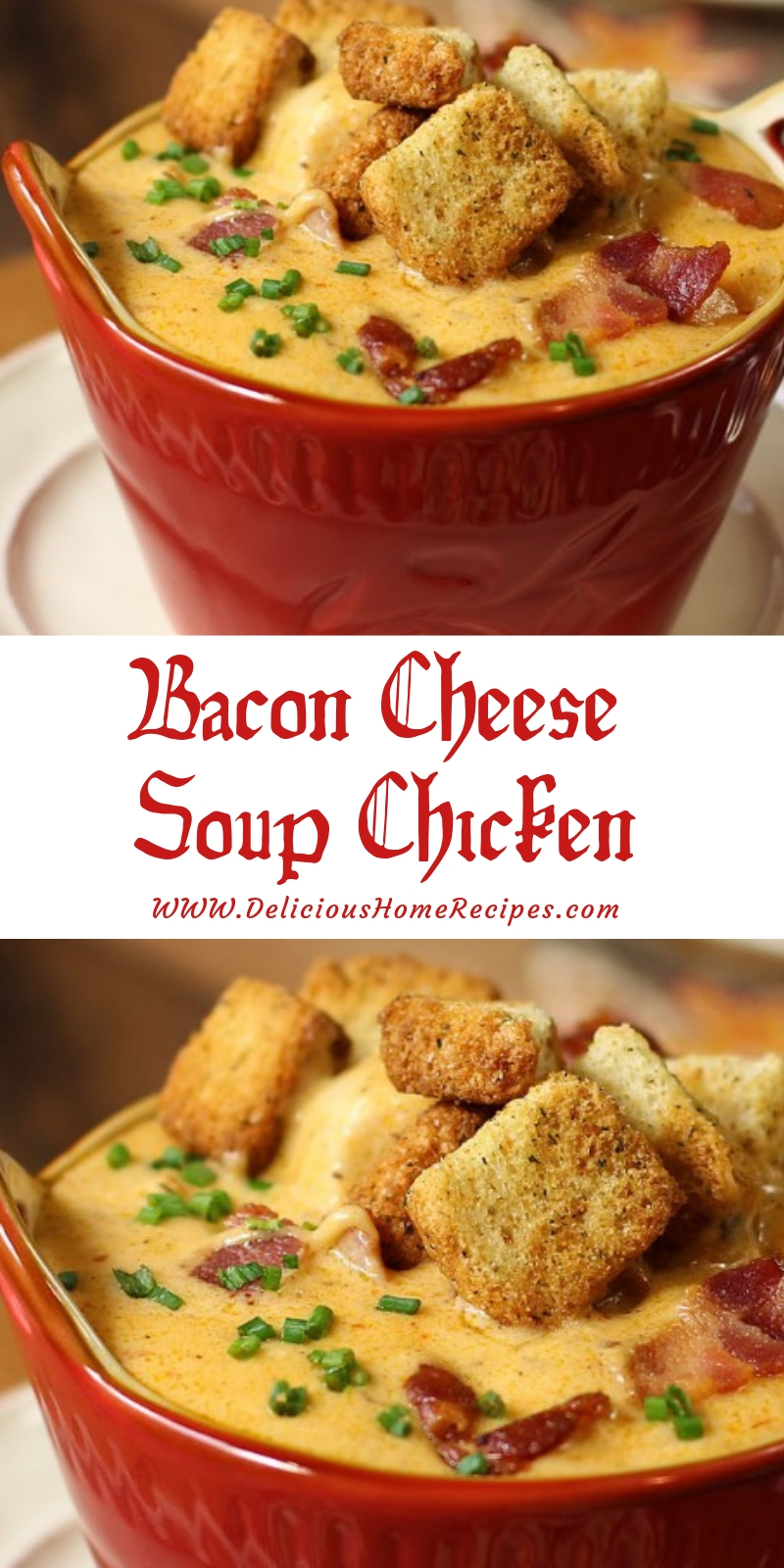 Bacon Cheese Soup Chicken #christmas #lunch
