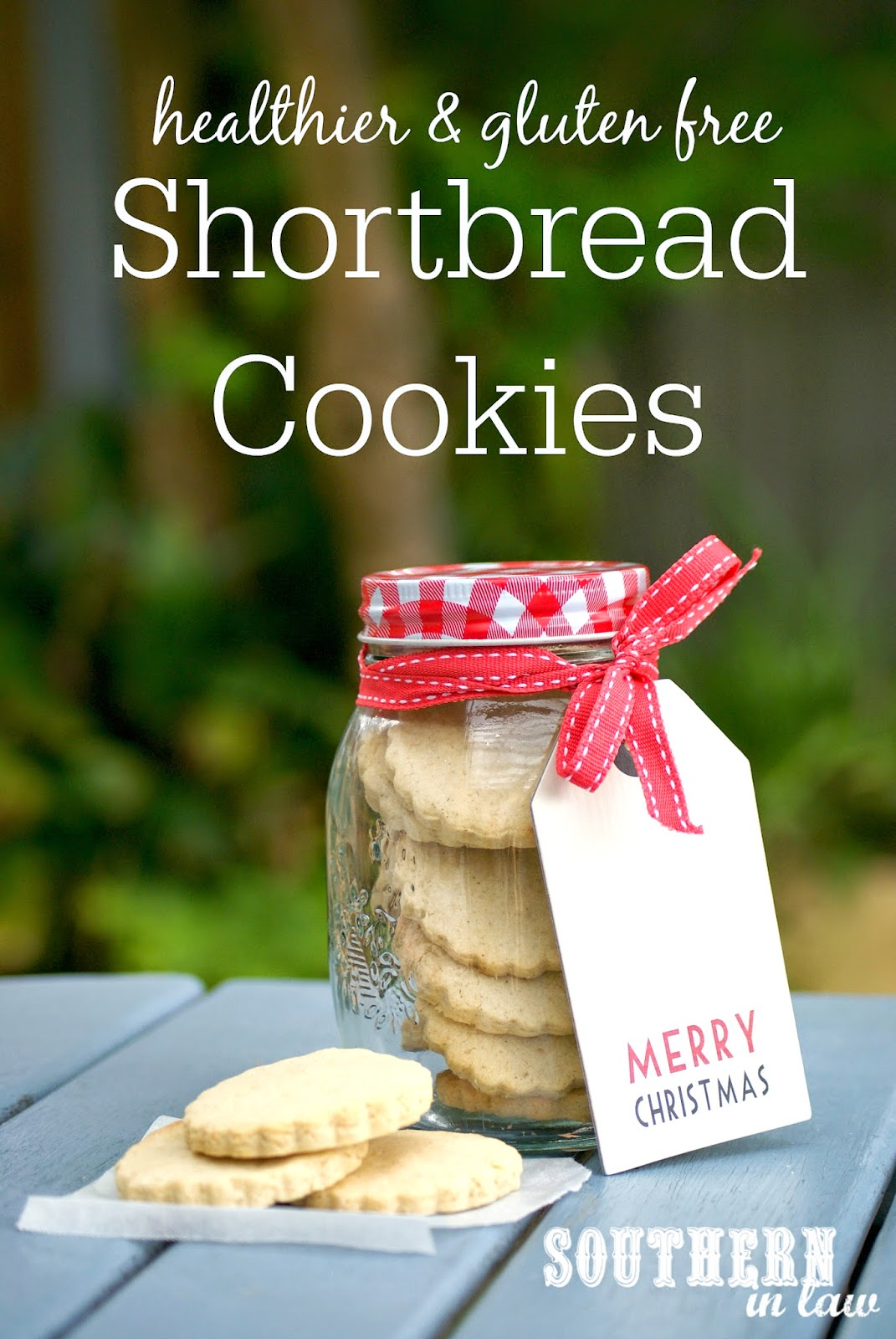 Healthier Gluten Free Shortbread Cookies Recipe for Christmas - low fat, low sugar, gluten free, healthier, healthy christmas recipes