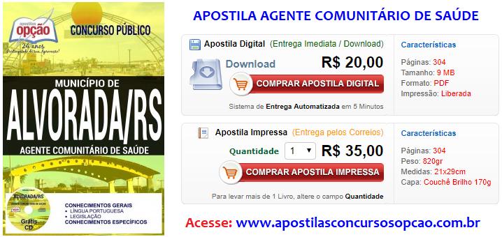 Apostila Concurso Município de Alvorada AGENTE COMUNITÁRIO DE SAÚDE