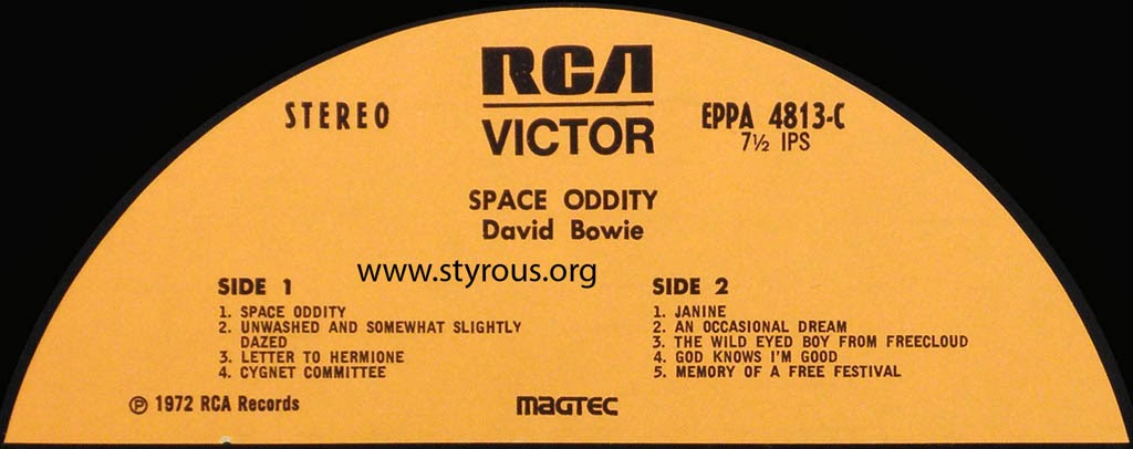 The Styrous® Viewfinder: 101 Reel-to-Reel Tapes 44: David Bowie 5 ...