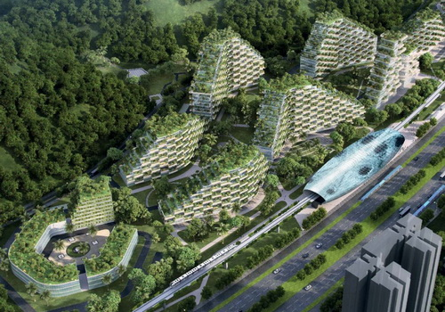 www.Tinuku.com Stefano Boeri Architetti announced Liuzhou Forest City design