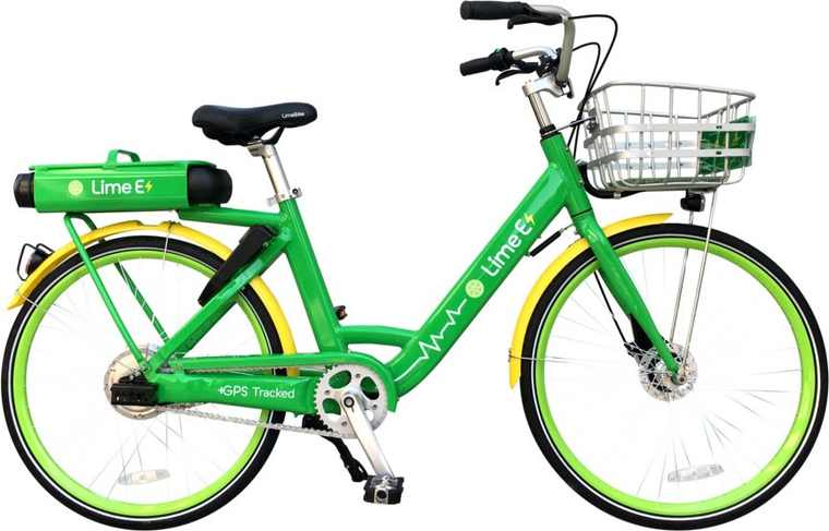 Google map, Lime bici electrica