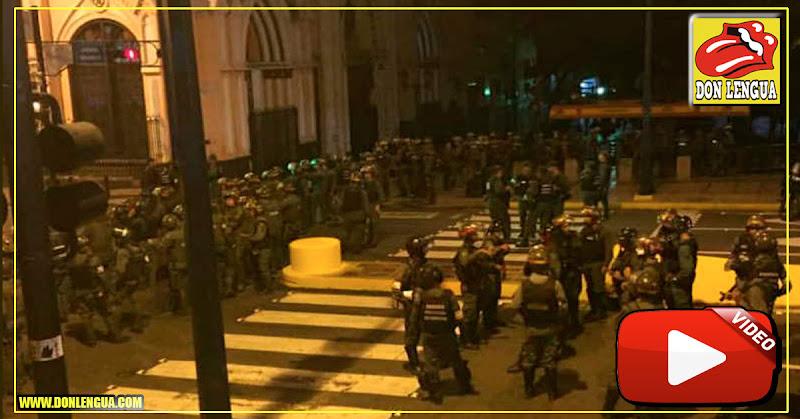 Más de 400 militares custodian el palacio de Miraflores toda la noche tras apagón
