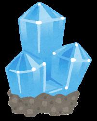 鉱石のイラスト(台座付き・青)