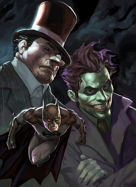 Gaming Rocks Anime Cartoon Comic Art #2 Batman