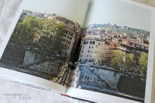 Rome Italy double page photograph in luxerious cookbook