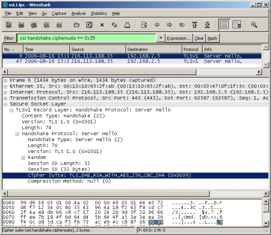 TaoSecurity: Wireshark Display Filters and SSL