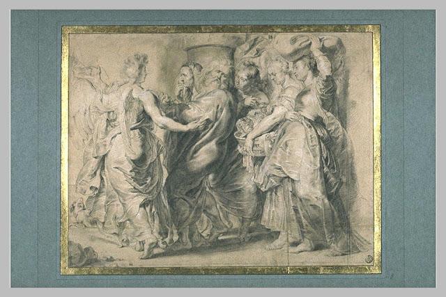 המלאכים מוציאים את לוט ומשפחתו מסדום