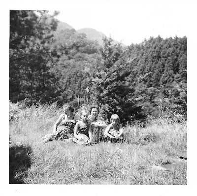 Ann Schwartz, Natalie Vasilev, Lena Vasilev, and Tanya Sarsfield in Japan in the early 1950's.