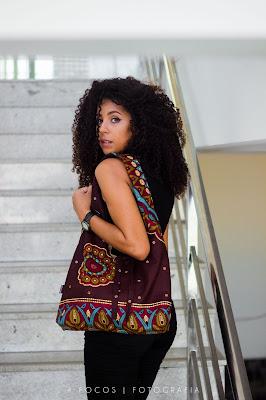 bolsa em tecido artesanal produto com tecido africano belecar
