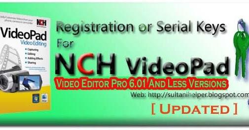 videopad editor key