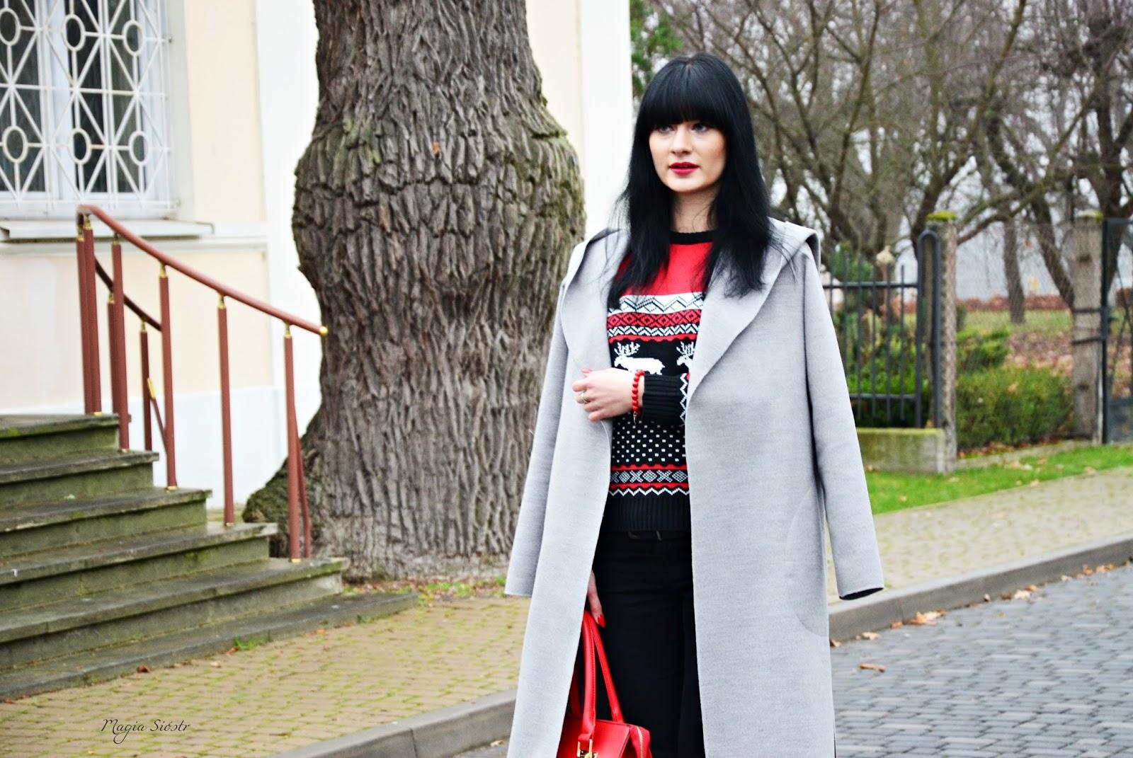 swetry świąteczne, blog modowy, stylizacja na jesień, stylizacja na spacer