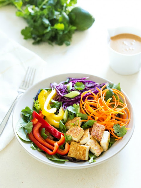 Thai Salad with Peanut Sauce- Ioanna's Notebook