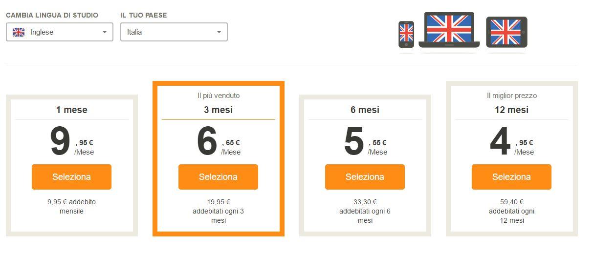 prezzi babbel.com programma per imparare l inglese