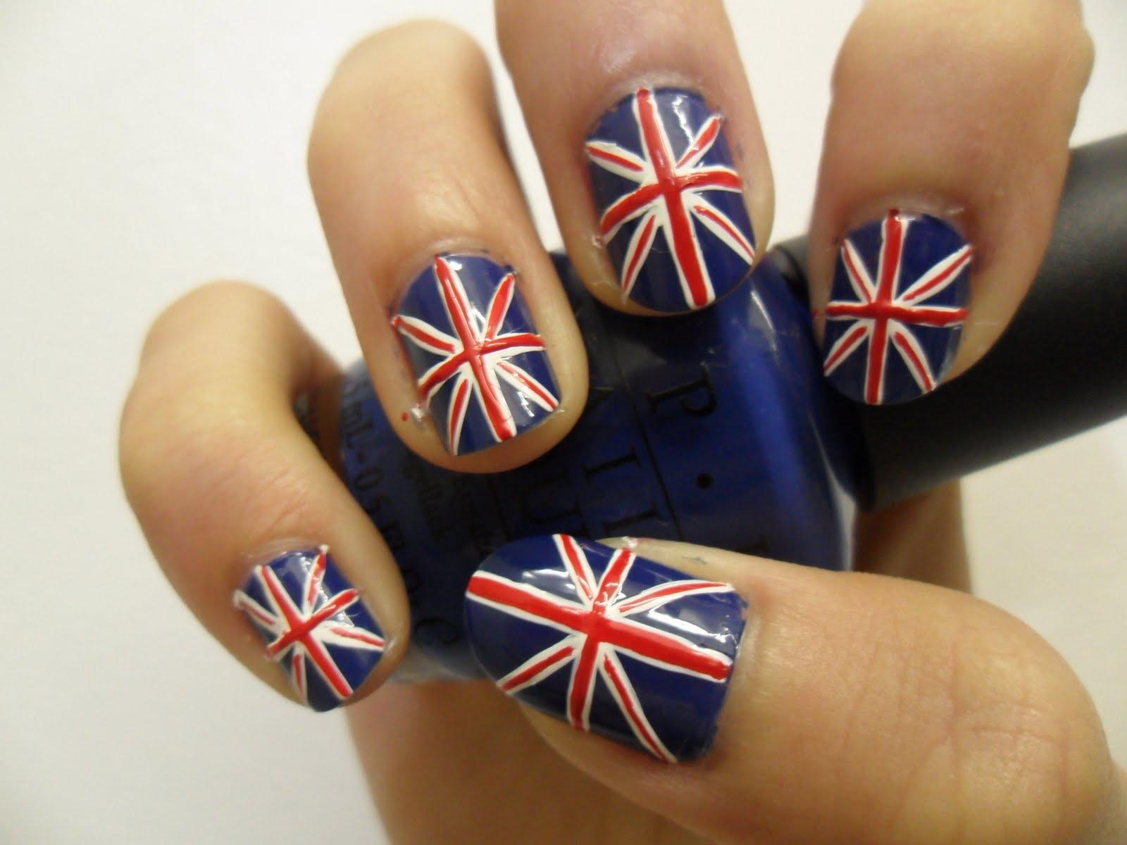 маникюр британский флаг картинки атласные или