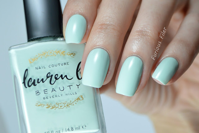 lauren b my private cabana pastel green swatch