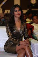 Pooja Hegde looks glamarous in deep neck sleevless short tight golden gown at Duvvada Jagannadham thank you meet function 030.JPG