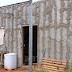 Para fugir do aluguel, homem constrói casa própria com estrutura de isopor