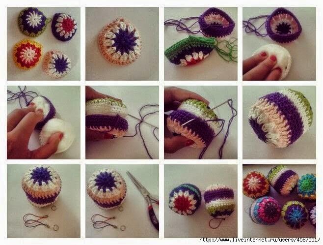 Esferas para el rbol de navidad al crochet todo crochet - Adornos navidenos ganchillo patrones ...