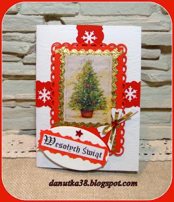 kartki świąteczne ,choinka
