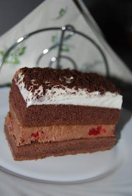 ciasto z nutellą i truskawkami