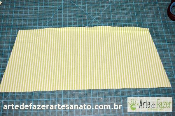 Tecido já cortado | passo a passo para fazer o avental