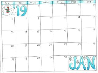 Free Printable Calendar January 2019