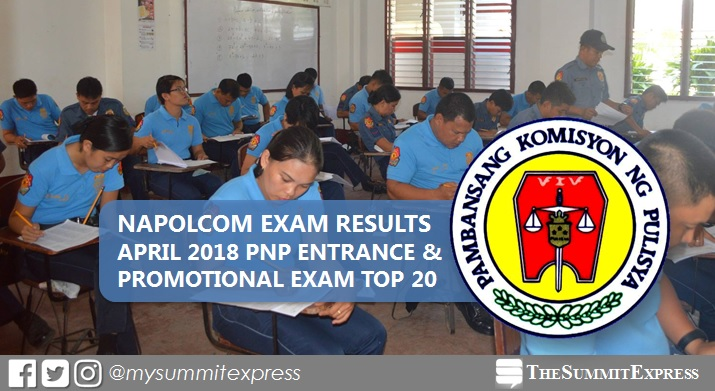 Top 20 Passers: April 2018 NAPOLCOM exam result