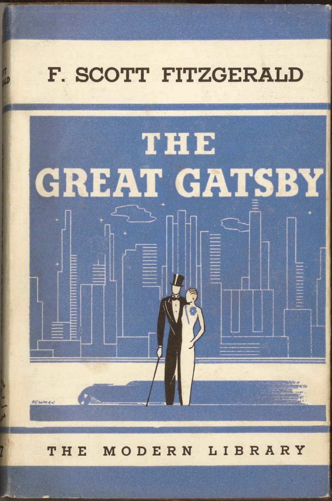 A Modern Library edition of The Great Gatsby.