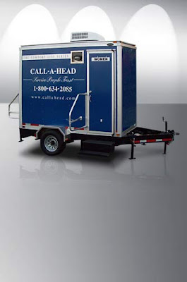 Portable Restroom Trailer: Newport 1100