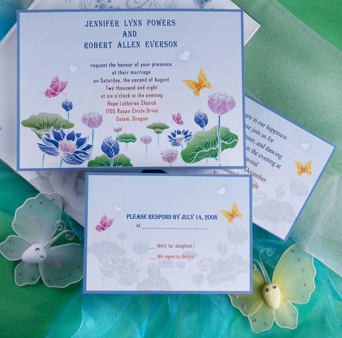 Butterfly Themed Wedding Invitations: Butterfly Wedding Invitations