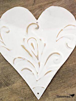 Tin Heart Bling Ornaments