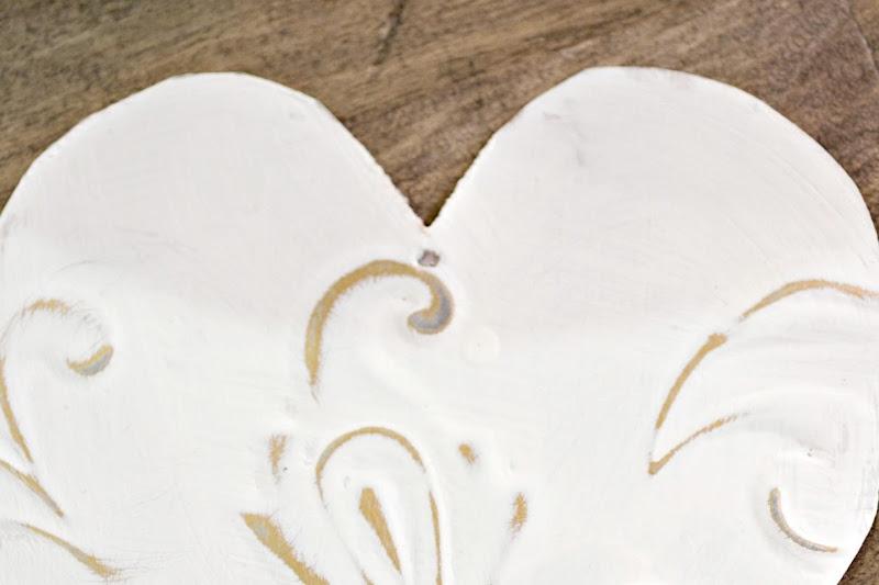 Tin Tile Heart Ornaments