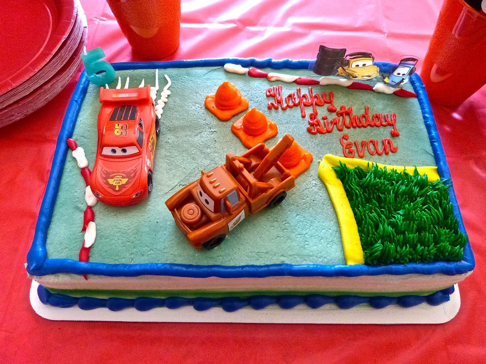 Cars Birthday Cake At Safeway