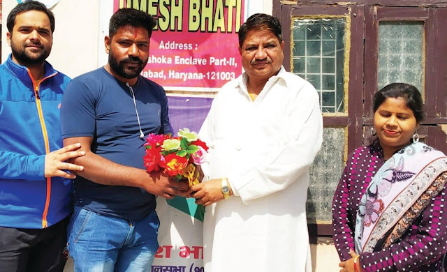 Sharad Sharma appointed as urban youth president of Inelola Tigaon assembly, state spokesman Umesh Bhatti welcomed