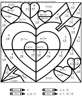Our Homeschool: valentines day worksheet