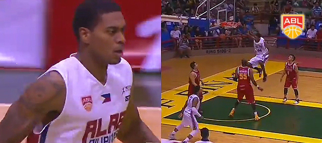Alab Pilipinas import James Hughes' MONSTER Slam vs. Slingers (VIDEO)