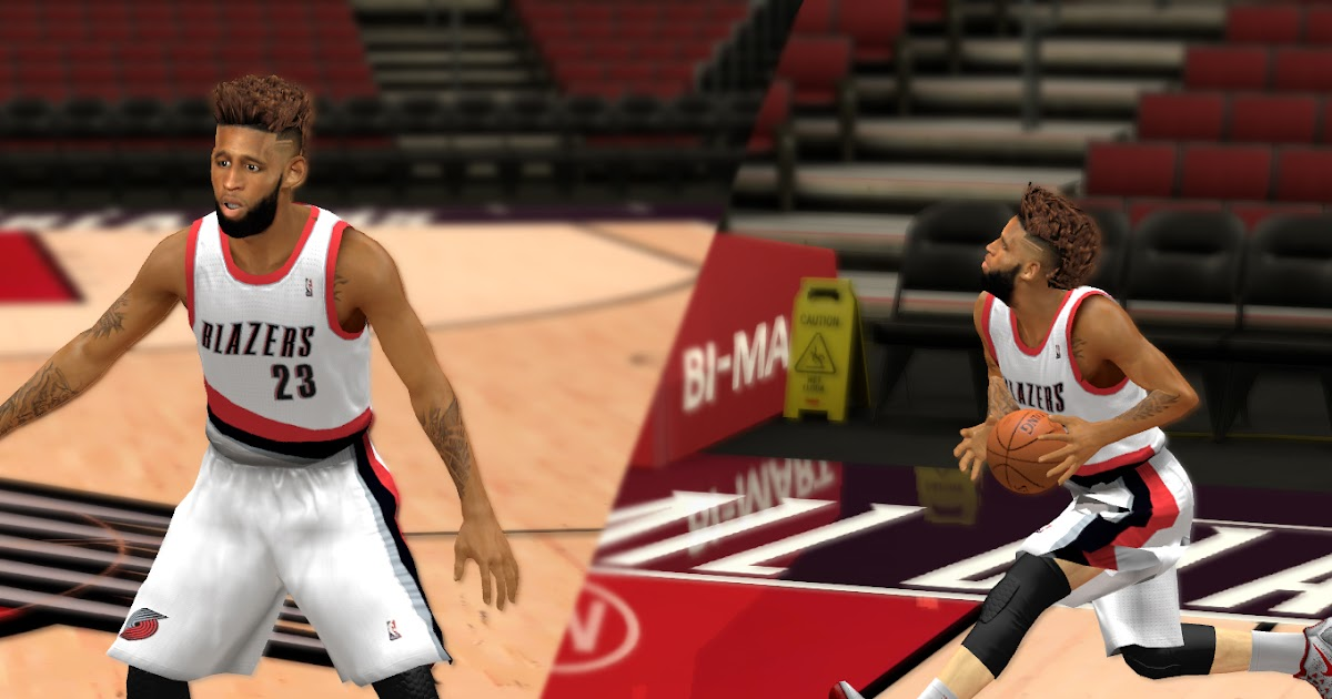 Allen Crabbe Cyberface W/ Beard V2 [FOR 2K14] - NBA 2K Updates, Roster Update, Cyberface, Etc