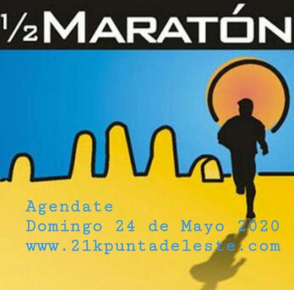 21k y 8k Media maratón de Punta del Este (Maldonado, 24/may/2020)