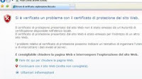 Cosa fare in caso di errore certificato di protezione SSL del sito