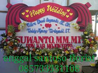 karangan bunga papan ucapan wedding