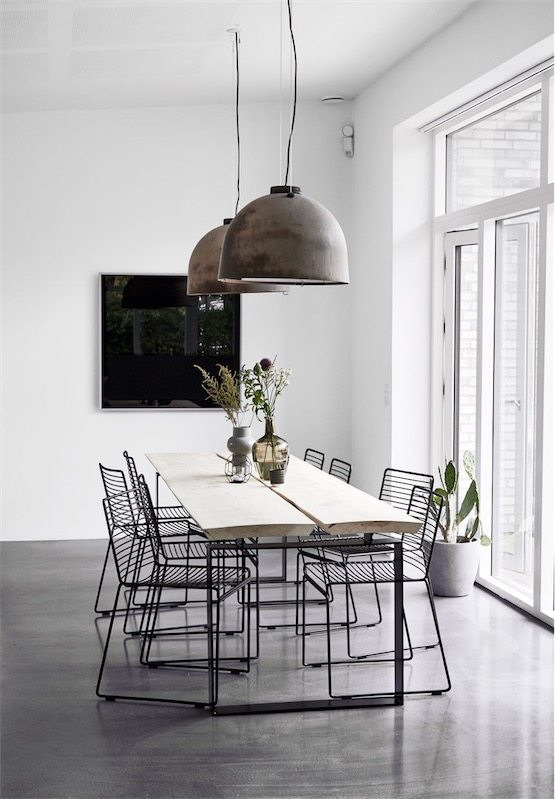 black white and grey interior chicanddeco