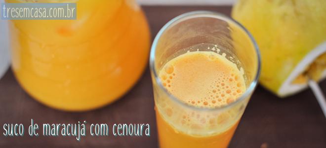 suco maracujá cenoura