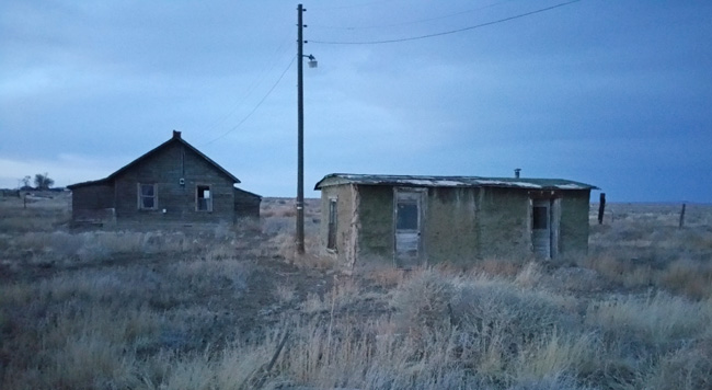 Abandoned buildings in Model, Colorado ghost town