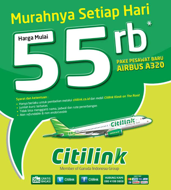 Promo Citilink 55.000 Per Rute Oktober 2013 Sampai April 2014