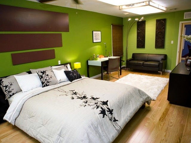 master bedroom green paint colors