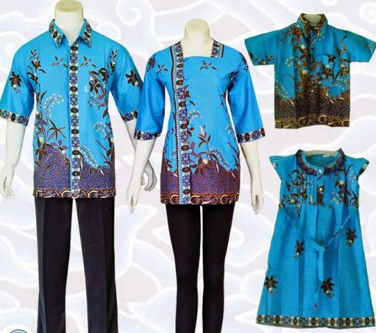 model baju batik keluarga untuk pernikahan